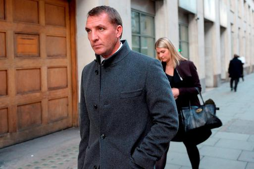 Former Liverpool manager Brendan Rodgers leaves the Central Family Court in London. Pic credit: Stefan Rousseau/PA Wire