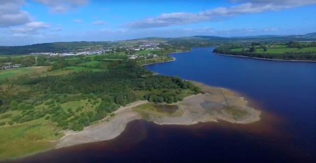 Blessington Lakes as seen from the sky Credit: Blessington Greenway
