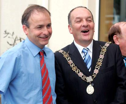 Fianna Fáil leader Micheál Martin with his brother Sean