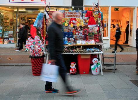 Shoppers on Dublin's Henry Street as retailers build their towards their busiest time of the year. Photo: Gareth Chaney – Collins