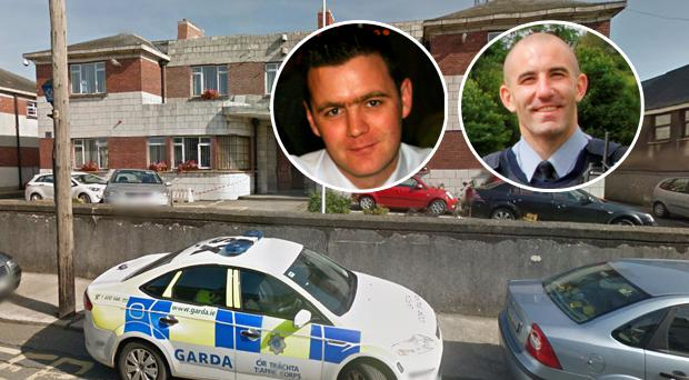 Wexford Garda Station. (Inset left, Garda Declan Dennehy, inset right, Garda Barry Brennan)