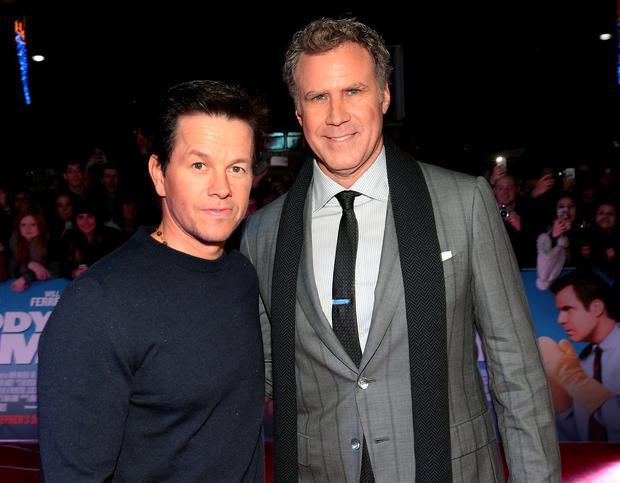 Mark Wahlberg and Will Ferrell at The Irish premiere screening of Daddy's Home at The Savoy Cinema in O Connell Street, Dublin. Pictures:Brian McEvoy