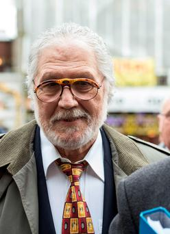 Former Radio 1 DJ Dave Lee Travis arrives at the Royal Courts of Justice in London to challenge his indecent assault conviction