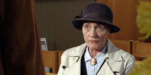 Edna Birch (played by the late Shirley Stelfox) in Emmerdale