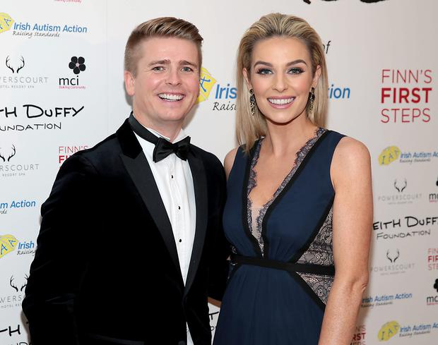 Brian Ormond and Pippa O Connor pictured at the Keith Duffy Foundation Charity Ball at Powerscourt Hotel in Enniskerry to raise funds for Irish Autism Action and Finn's First Steps Charities..Picture: Brian McEvoy