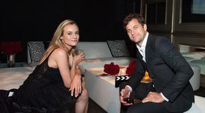 Actors Diane Kruger (L) and husband Joshua Jackson. (Photo by Valerie Macon/Getty Images)