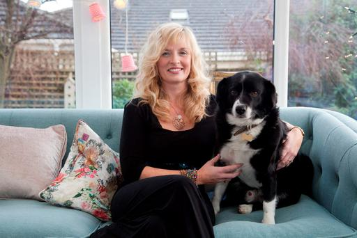 Carol Rhatigan McCabe, from Naas, Co Kildare, with her dog Wesley. Photo: Michael Donnelly