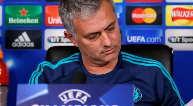 Jose Mourinho at a press conference in London yesterday