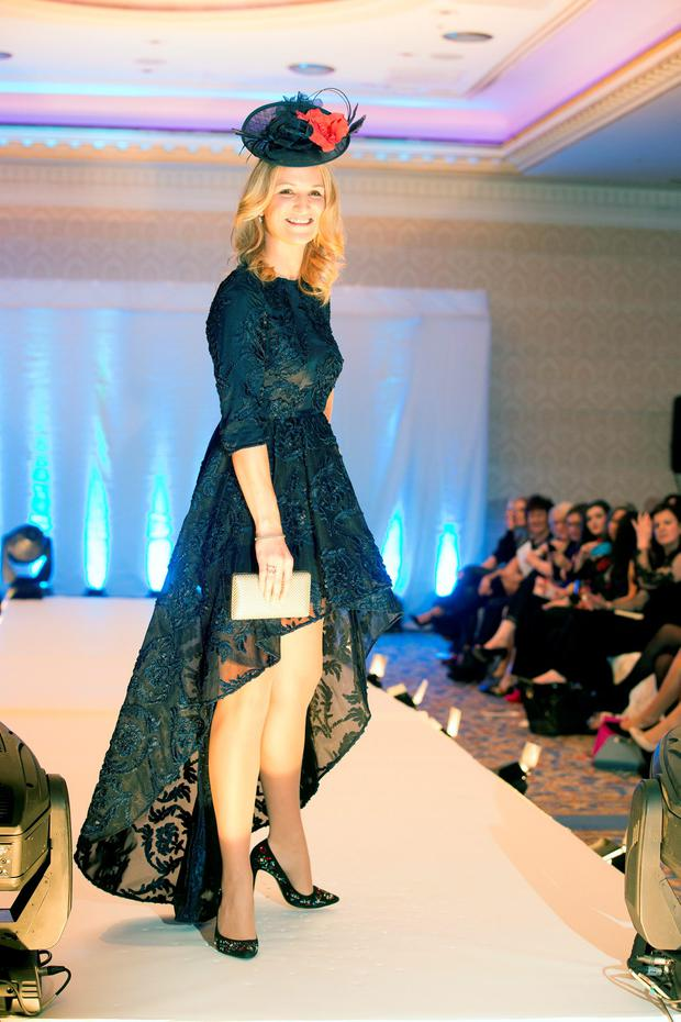 Helen McEntee TD at the 3rd annual Oireachtas Christmas Charity Fashion Show at The Shelbourne in aid of Research Motor Neurone. Picture: Kieran Harnett