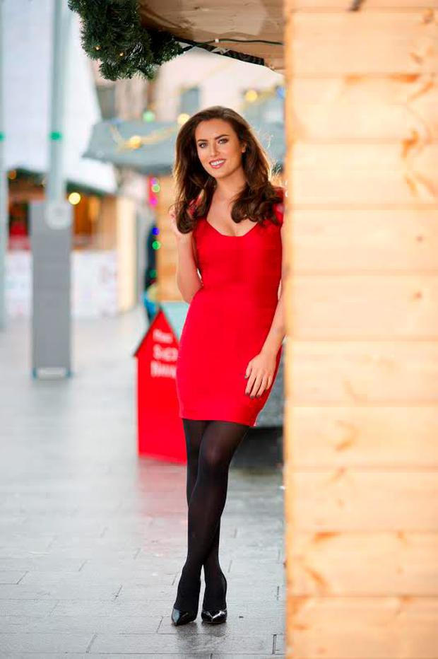 Former Miss Ireland Holly Carpenter launched the Christmas Market on Kennedy Place in Navan, Co Meath