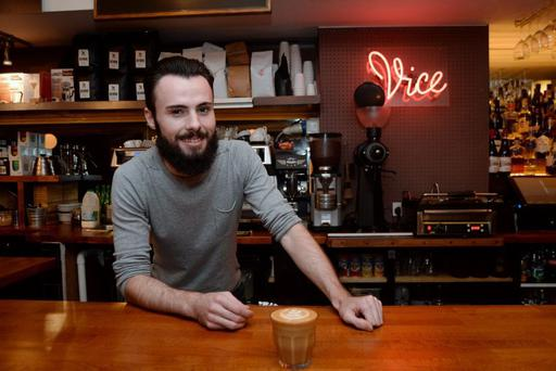 Barry Matchett, barista at Vice, Middle Abbey Street