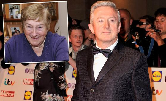 Louis Walsh and (inset) is his mother Maureen