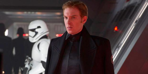 Domhnall Gleeson as General Hux in Star Wars: The Force Awakens