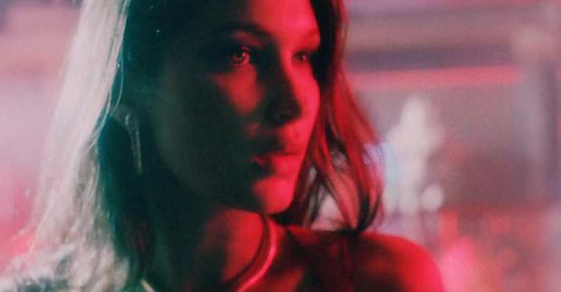 Bella Hadid in the video for In the Night by The Weeknd