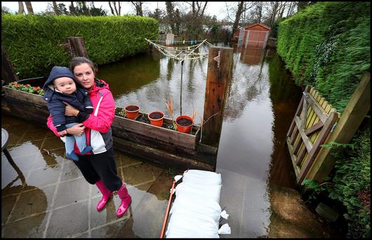 Fiona Greaney and her 11 month old son Tommy at their home at Station Road in Ballinasloe . Pic Steve Humphreys