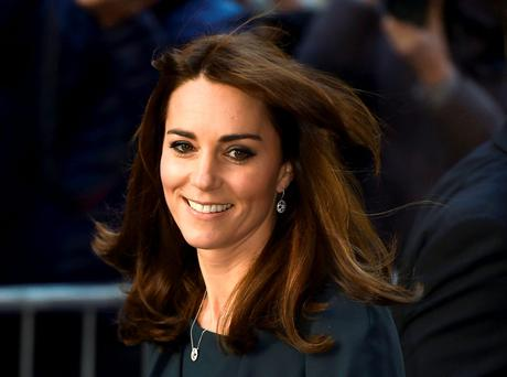 Britain's Catherine, Duchess of Cambridge, arrives for a charity event at city company ICAP, in central London, Britain December 9, 2015. REUTERS/Toby Melville