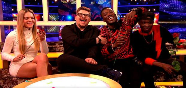 X Factor finalists Louisa Johnson, Che Chesterman, and Reggie n Bollie on The Xtra Factor.