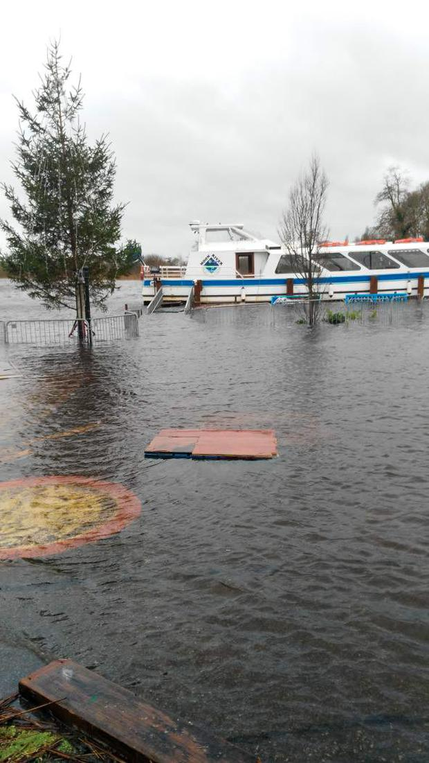 Flooding in Carrick-on-Shannon Credit: Jimmy Stafford