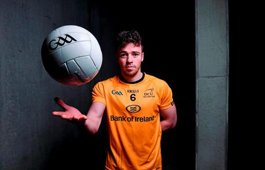 Conor Moynagh, from DCU, during the Sigerson Independent.ie Higher Education Championships Launch. Croke Park, Dublin. Picture credit: Matt Browne / SPORTSFILE