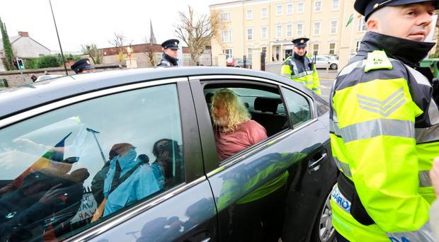 TD Mick Wallace arriving at Limerick Prison this afternoon. Photo: Brian Gavin Press 22