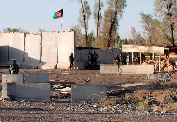 Nine Taliban insurgents were killed during the raid against the sprawling airport Credit: Stringer (REUTERS)