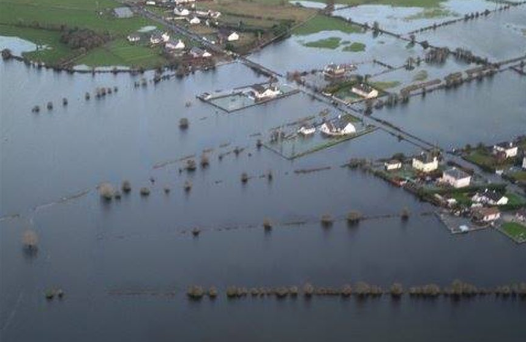 The Caherlea area has been badly hit by flooding Credit:Twitter/@iklelee