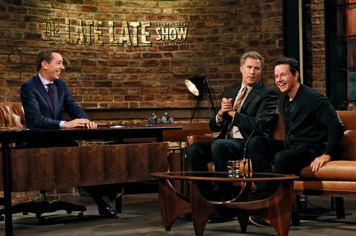 Will Ferrell and Mark Wahlberg with Ryan Tubridy.