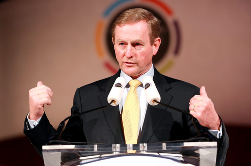 Taoiseach Enda Kenny addressed the meeting of FG candidates