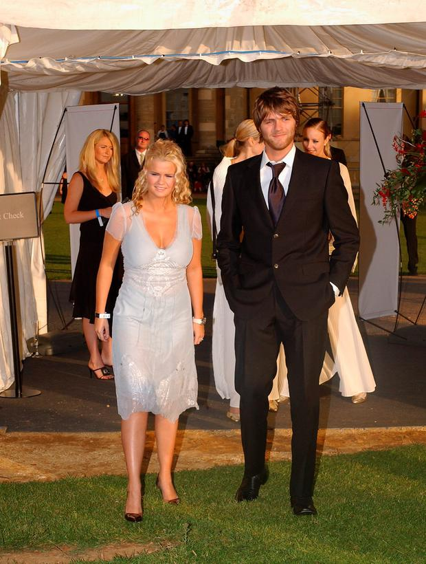Brian McFadden and an ex-wife Kerry Katona in 2004