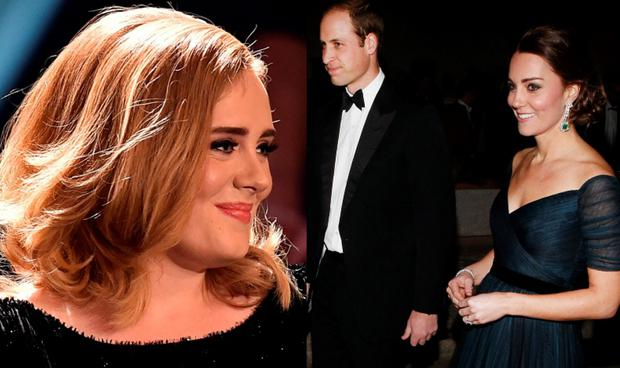 Adele (left) and the Duke and Duchess of Cambridge (right)