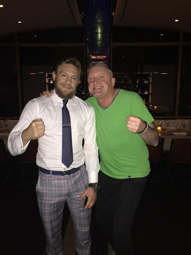 Conor McGregor with Crush restaurant owner John O'Donnell