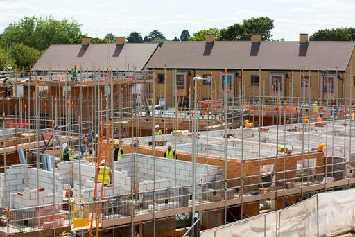 Skills shortages are an issue for the building sector in England. Photo: Jason Alden/Bloomberg