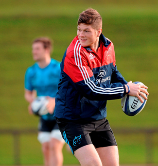 Jack O'Donoghue in action during training in UL