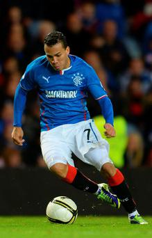 Arnold Peralta in action for Rangers during the The William Hill Scottish Cup Third Round match at Ibrox Stadium on November 1, 2013 in Glasgow. Photo: Getty Images)