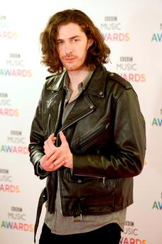 Hozier arrives on the red carpet for the BBC Music Awards at the Genting Arena, Birmingham. PRESS ASSOCIATION Photo. Picture date: Thursday December 10, 2015. Photo credit should read: Joe Giddens/PA Wire