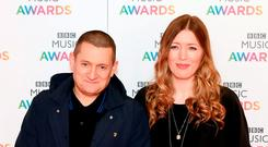 (from left) Paul Heaton and Jacqui Abbott arrives on the red carpet for the BBC Music Awards at the Genting Arena, Birmingham. Picture: Joe Giddens/PA Wire