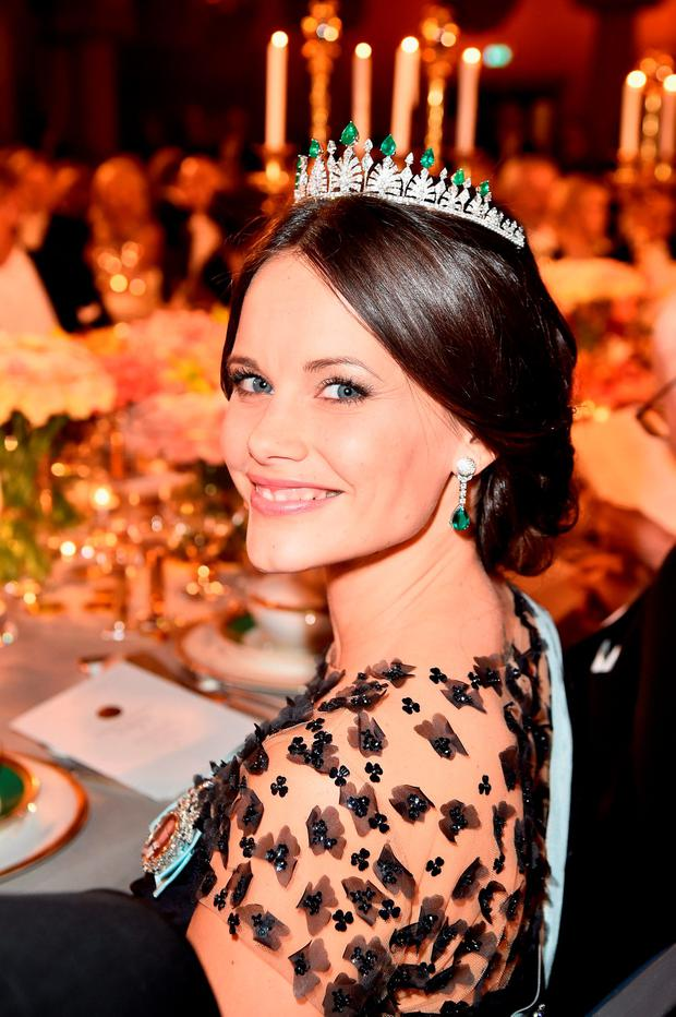 Princess Sofia of Sweden attends the Nobel Prize Banquet 2015 at City Hall on December 10, 2015 in Stockholm, Sweden. (Photo by Pascal Le Segretain/Getty Images)