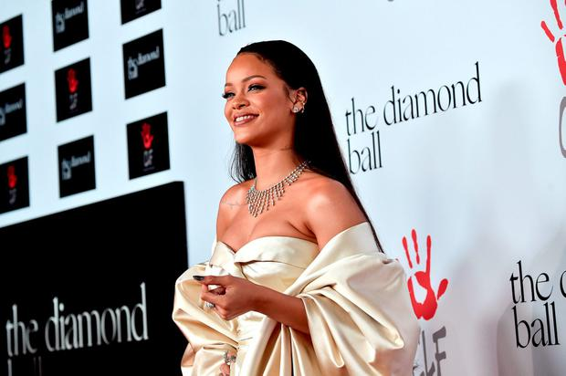 Recording artist Rihanna attends the 2nd Annual Diamond Ball hosted by Rihanna and The Clara Lionel Foundation at The Barker Hanger on December 10, 2015 in Santa Monica, California. (Photo by Alberto E. Rodriguez/Getty Images)