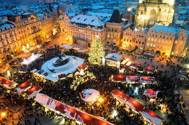 Trade fair in Old Town Square, Prague. Photo: Deposit