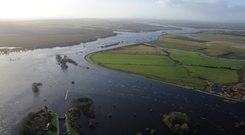 Photographs taken from the Air Corp's helicopter over the Shannon Basin today.
