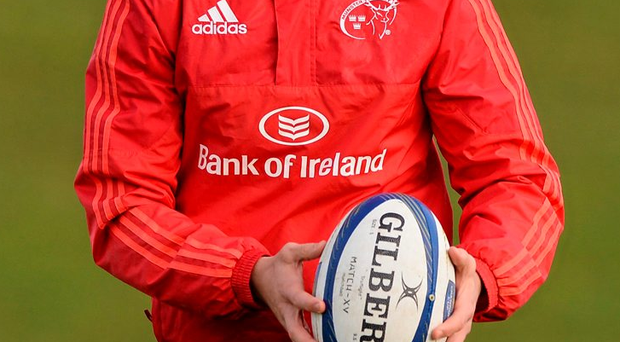 Lucas Gonzalez Amorosino at a Munster training session