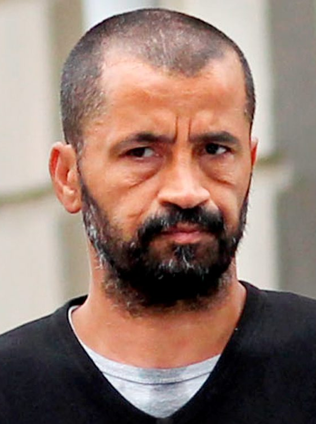 Damache: (Ali); An Algerian national who has lived in Ireland for a decade, and who recently pleaded guilty in Waterford Circuit Court to a single count of sending a menacing message by telephone to an Americn Muslim activist is challenging the conditions of his incarceration jail in Dublin ,where he is awaiting an extradition hearing, High Court, Dublin, (16/7/13).******See Hi Ct Story. Pic. shows: Algerian nationalist Ali Damache, (47 yrs.) leaving the High Court in Dublin yesterday (Tues.) after the opening day of the hearing. (Pic: CourtPix.)