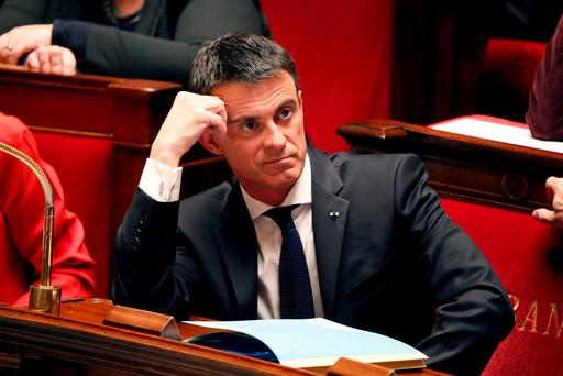 French Prime Minister Manuel Valls reacts during the questions to the government session at the National Assembly in Paris. Photo: Reuters