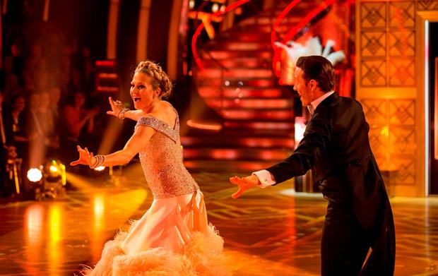 BBC handout photo of Kellie Bright and Kevin Clifton during a live show of Strictly Come Dancing. PRESS ASSOCIATION Photo. Picture date: Saturday December 12, 2015. See PA story SHOWBIZ Strictly. Photo credit should read: Guy Levy/BBC/PA Wire NOTE TO EDITORS: Not for use more than 21 days after issue. You may use this picture without charge only for the purpose of publicising or reporting on current BBC programming, personnel or other BBC output or activity within 21 days of issue. Any use after that time MUST be cleared through BBC Picture Publicity. Please credit the image to the BBC and any named photographer or independent programme maker, as described in the caption.