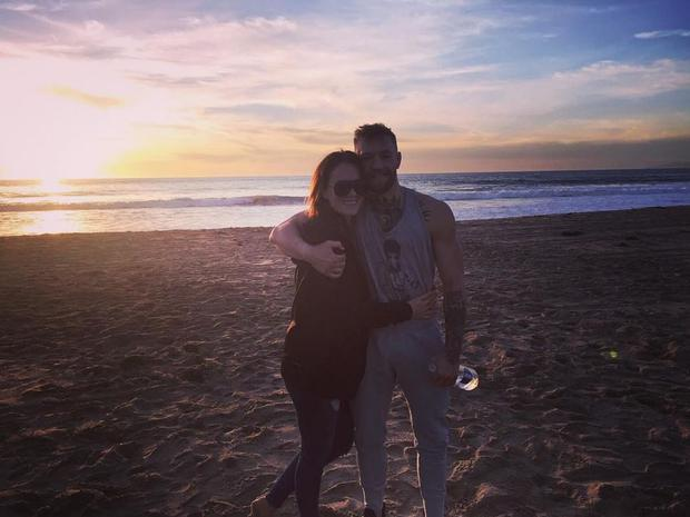 Conor McGregor pictured with his girlfriend Dee Devlin. Photo Instagram: @DeeDevlin1