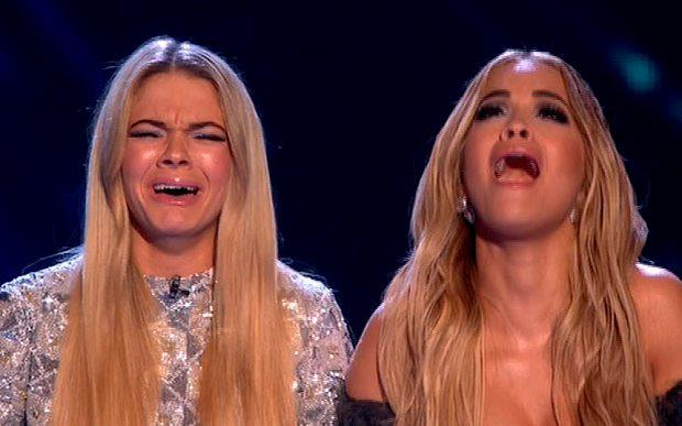 Louisa Johnson with mentor Rita Ora as she's announced the winner