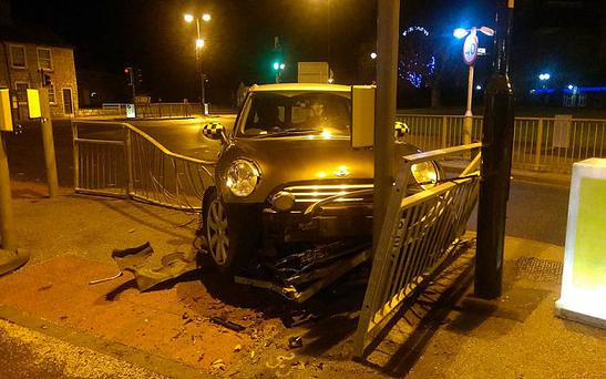 North Yorkshire Police posted a picture of the crashed car on Twitter Photo: NorthYorksPolice RPG