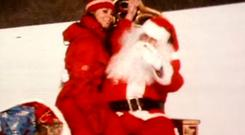 Mariah Carey in the 'All I Want for Christmas' video