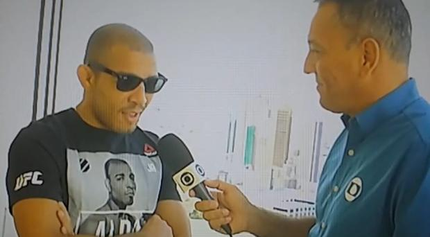 Jose Aldo has appeared on Brazilian TV