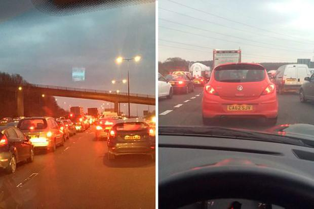 Twitter users @wallacico and @wade_saunders tweeted about the lengthy tailbacks